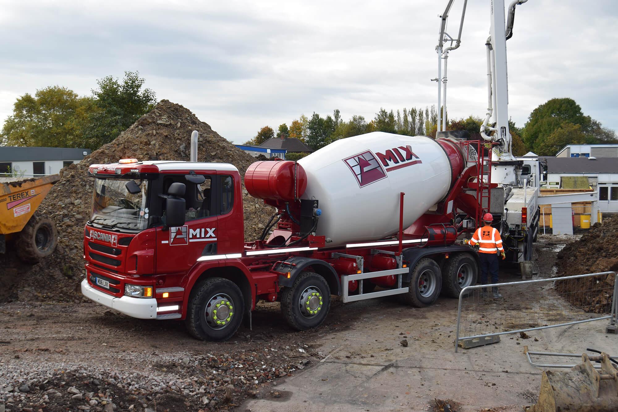 Ready Mix Concrete : Ready mixed concrete armstrongs aggregate stone quarry