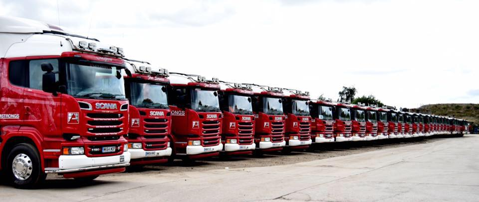Fleet of Armstrongs vehicles