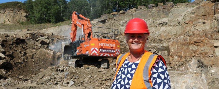 Emma at quarry
