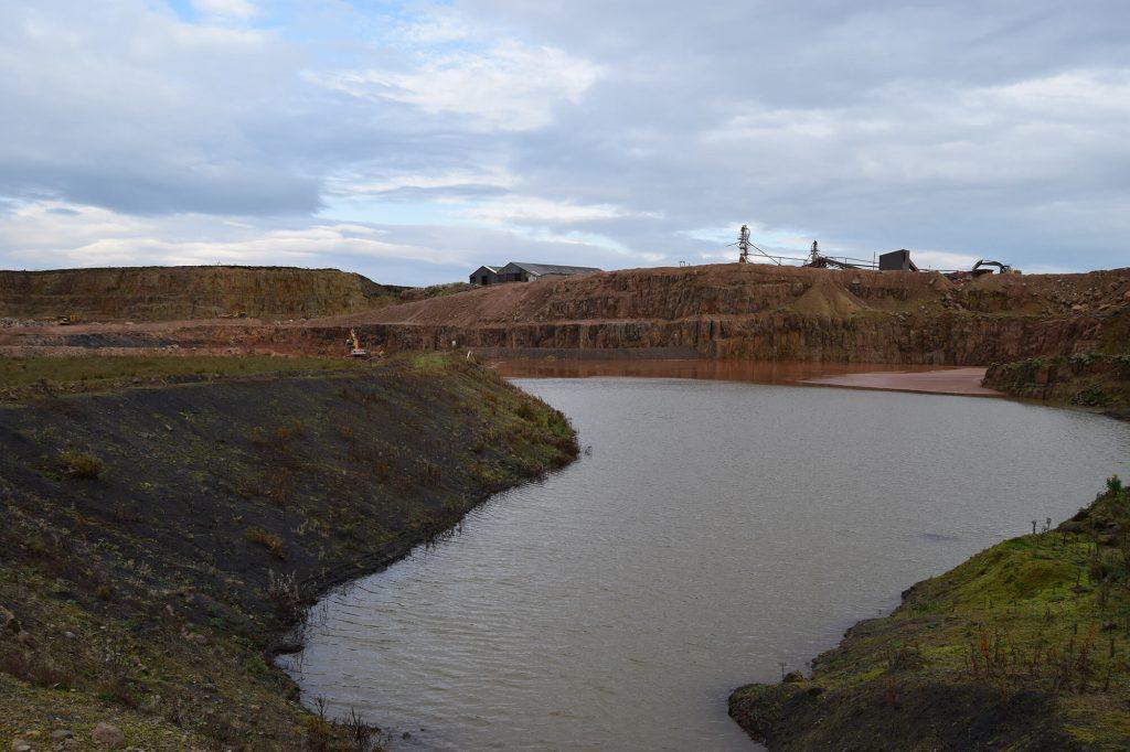 lake at quarry