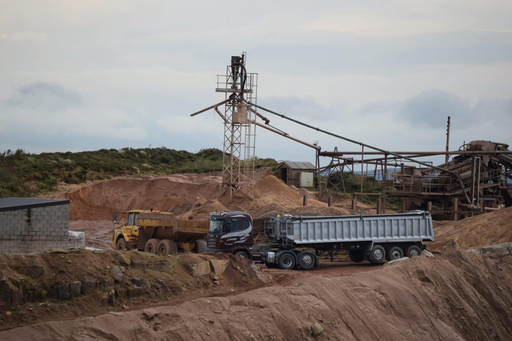 quarrying equipment and vehicles