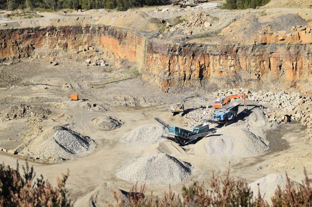 Aggregate processing at Brinscall Quarry