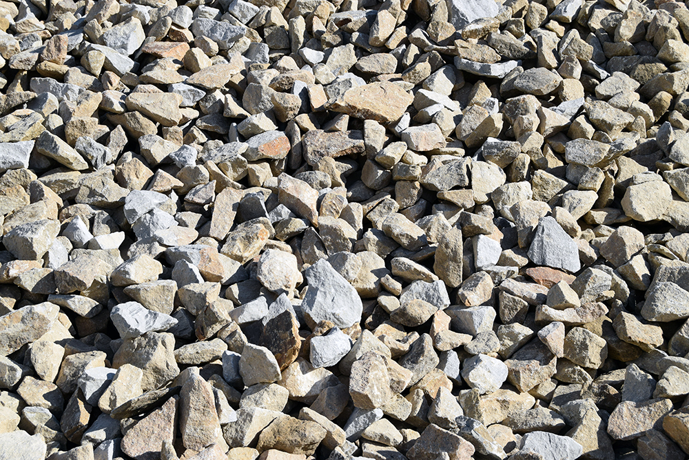 aggregate closeup shot
