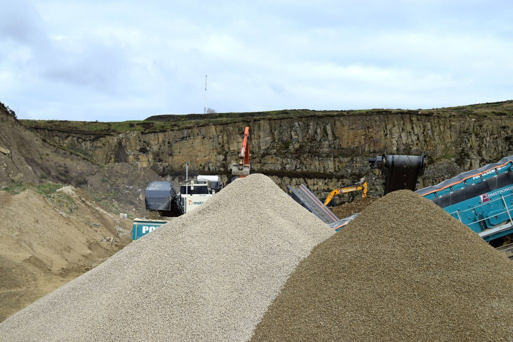 piles of aggregate products