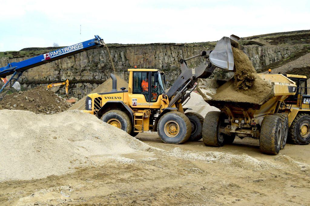 loading sand