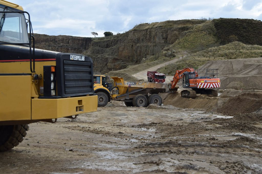 vehicles in use at Montcliffe Quarry