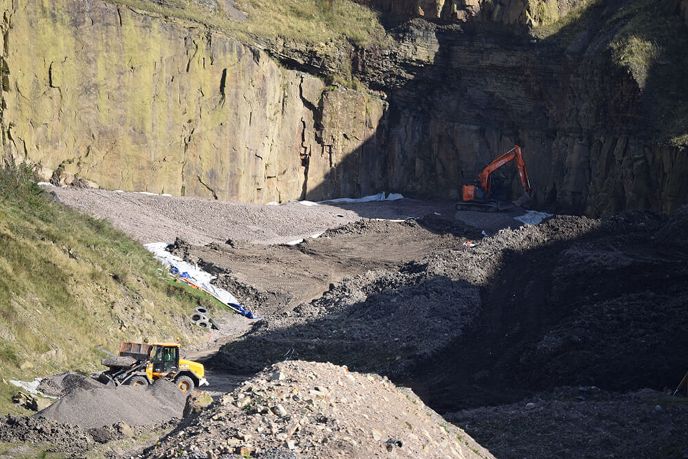 Products being processed at Pilkington Quarry