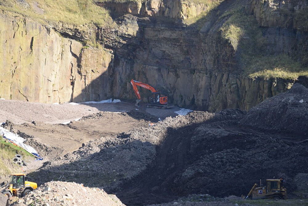 Excavator at Pilkington