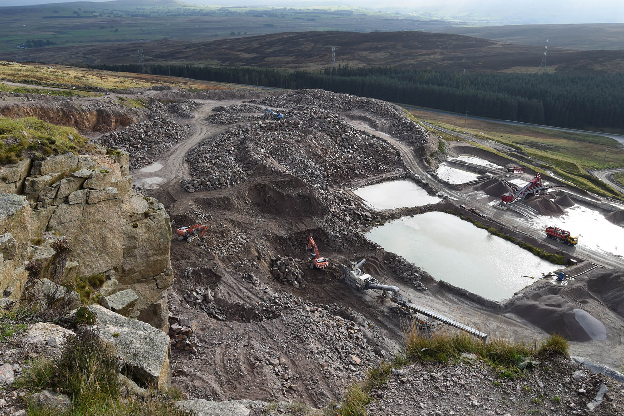 Shap Quarry top-down view
