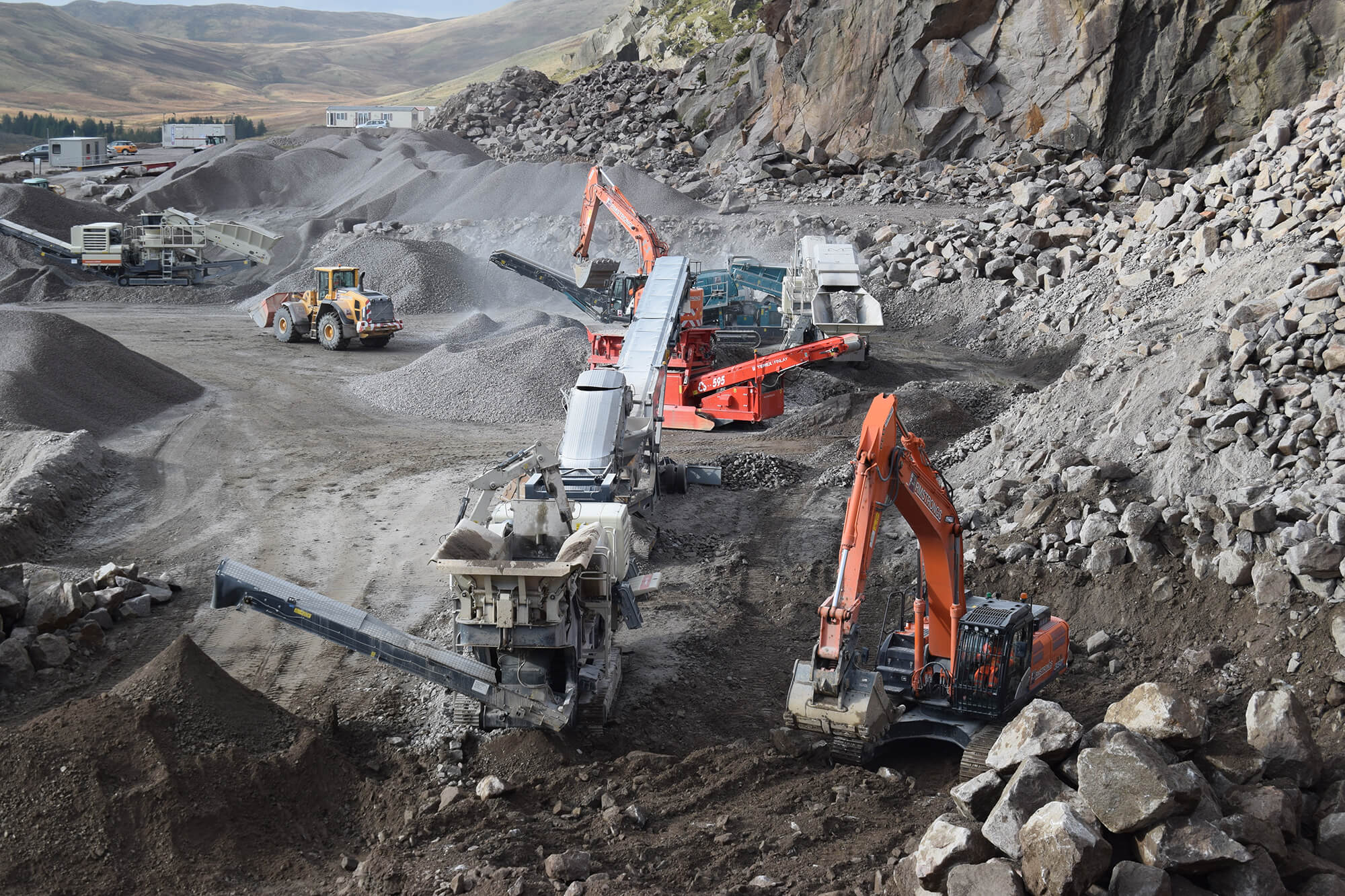Work ongoing at Shap Quarry