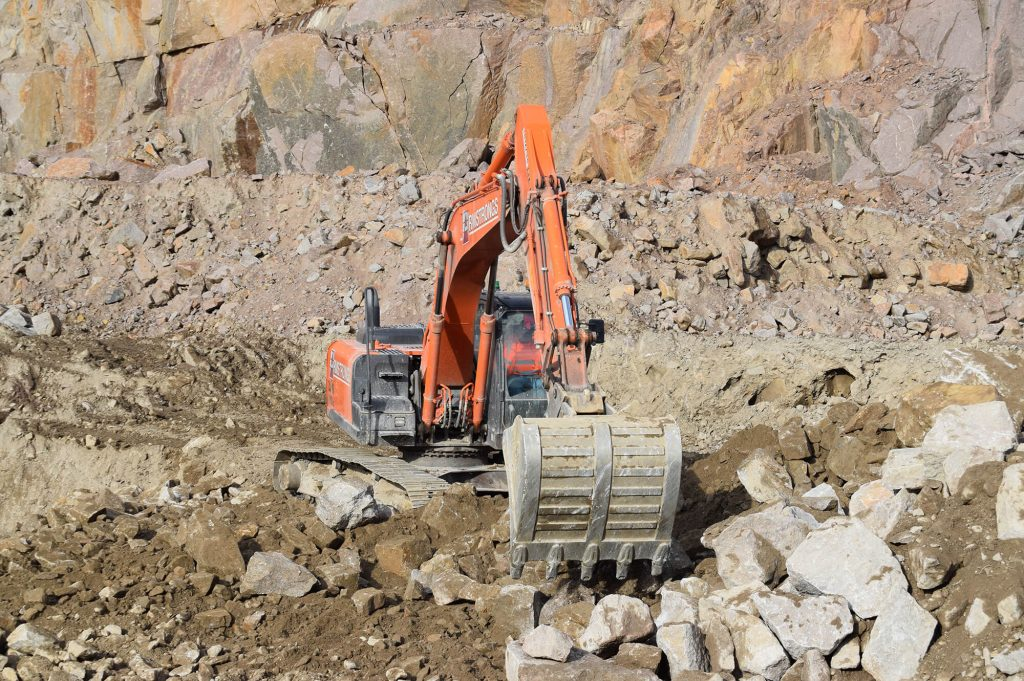 excavator working at Shap