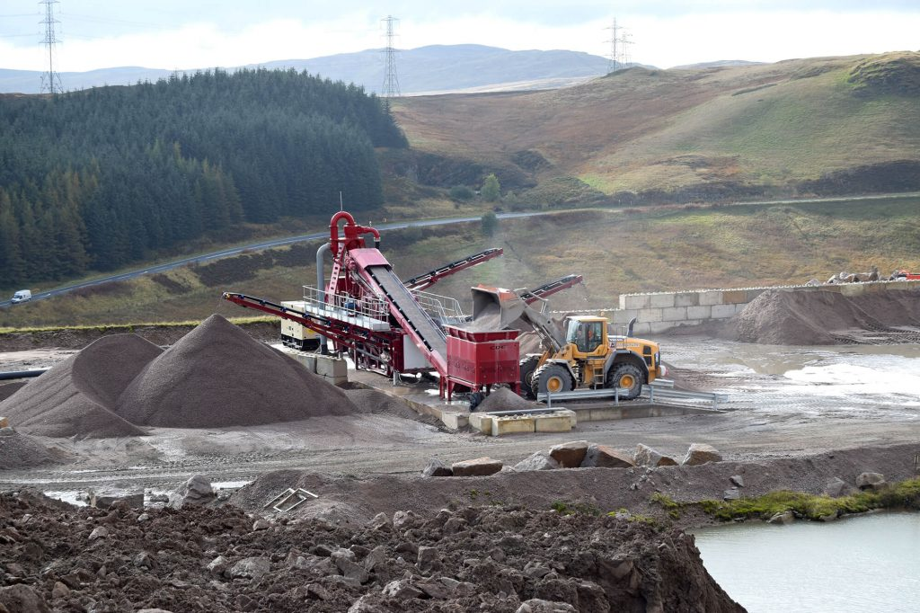 processing aggregate products at Shap