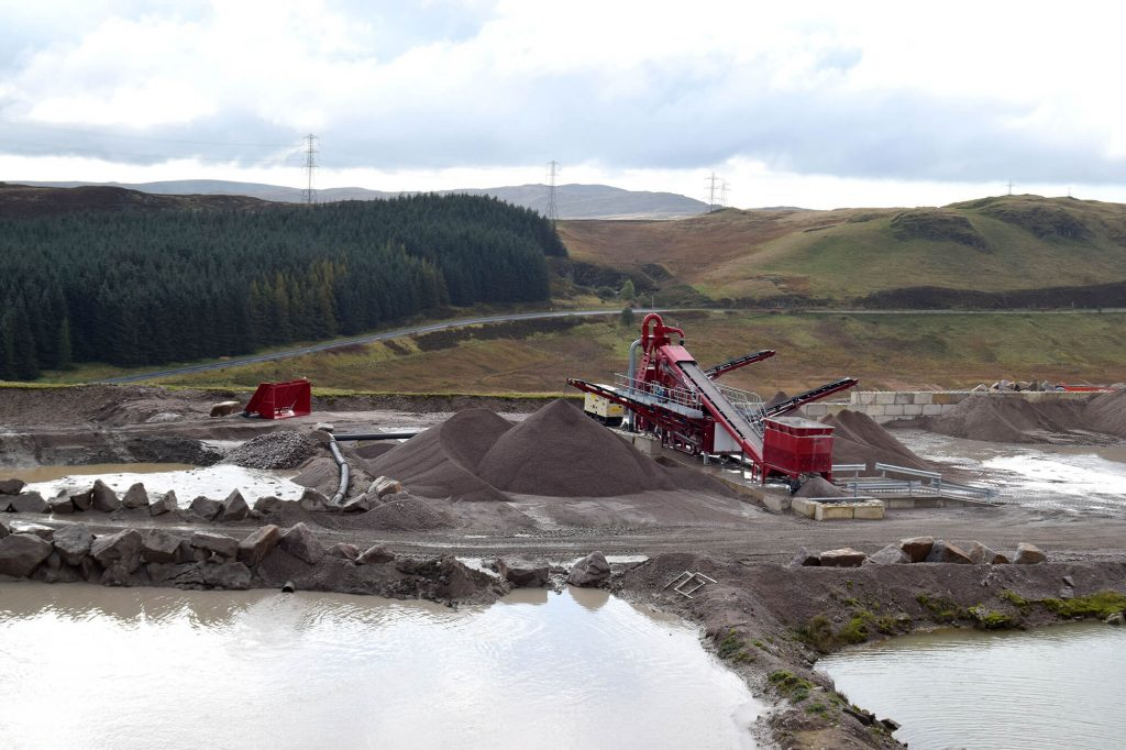 aggregate processing equipment at Shap