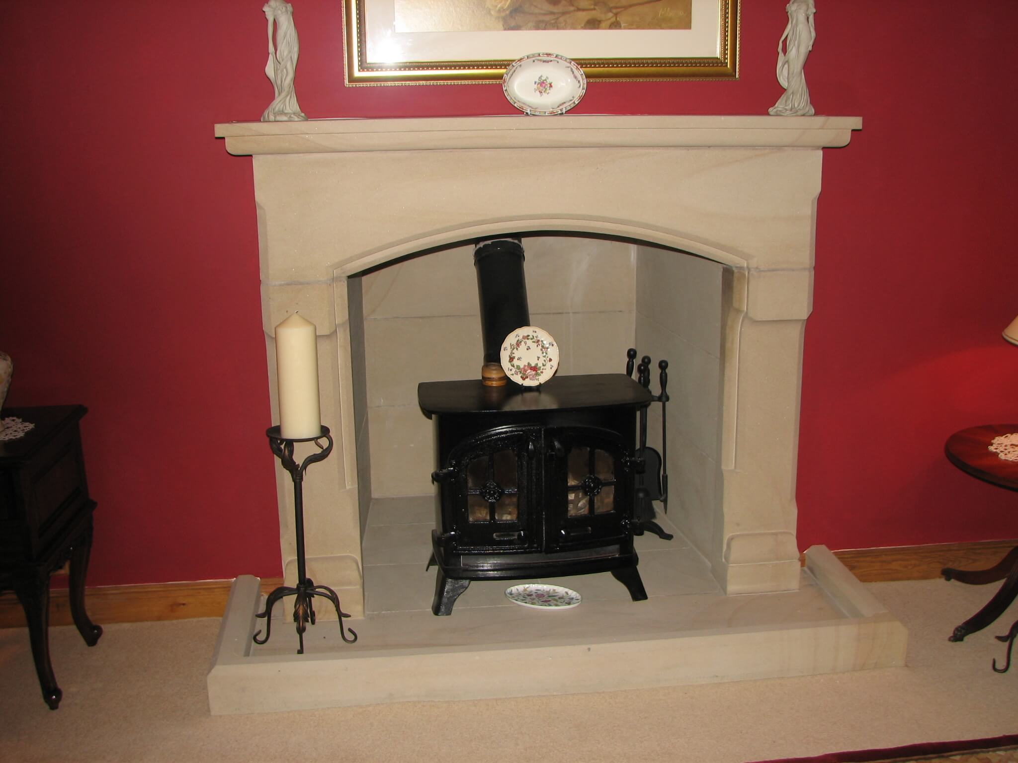 fireplace - example of our cut stone products