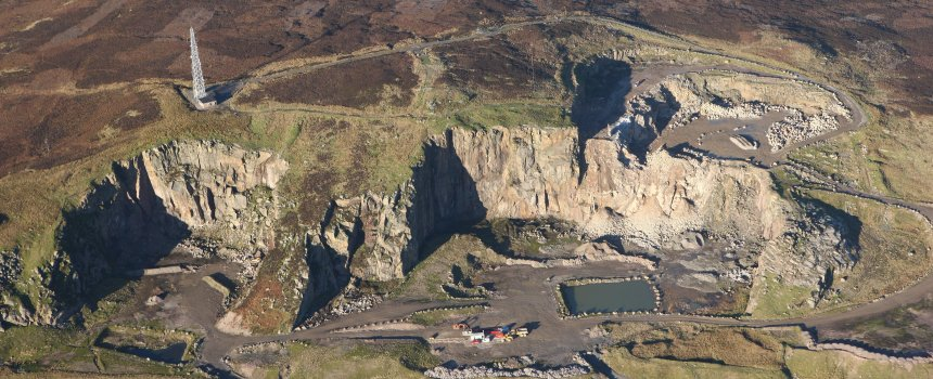 Shap Quarry aerial view