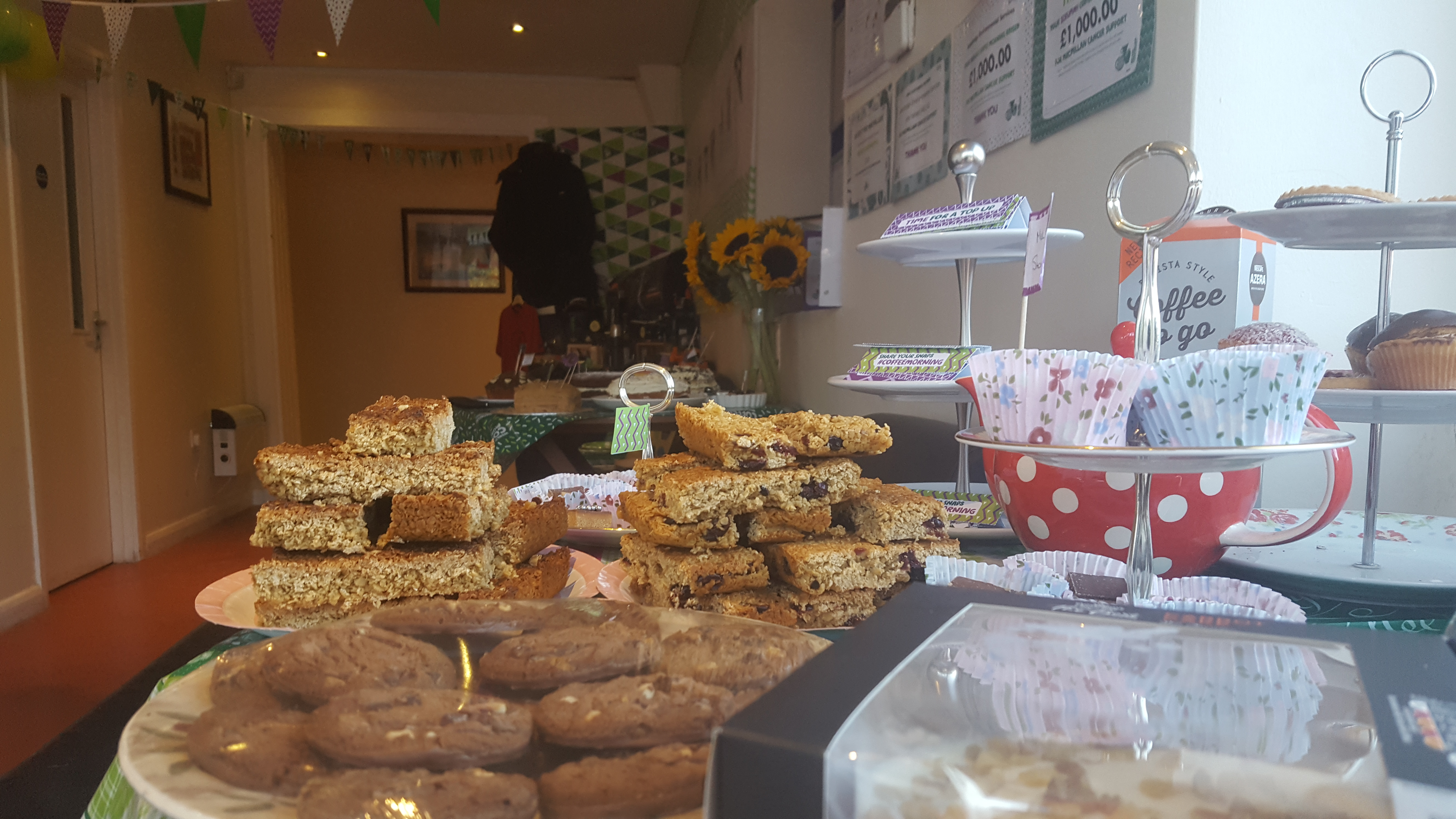Cakes ready for Macmillan coffee morning