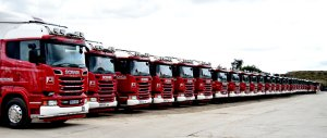 Armstrongs fleet of trucks
