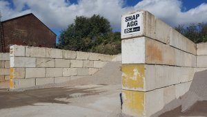 A picture of where the our Amrstrongs aggregate is stored. AMIX Established since 1993.