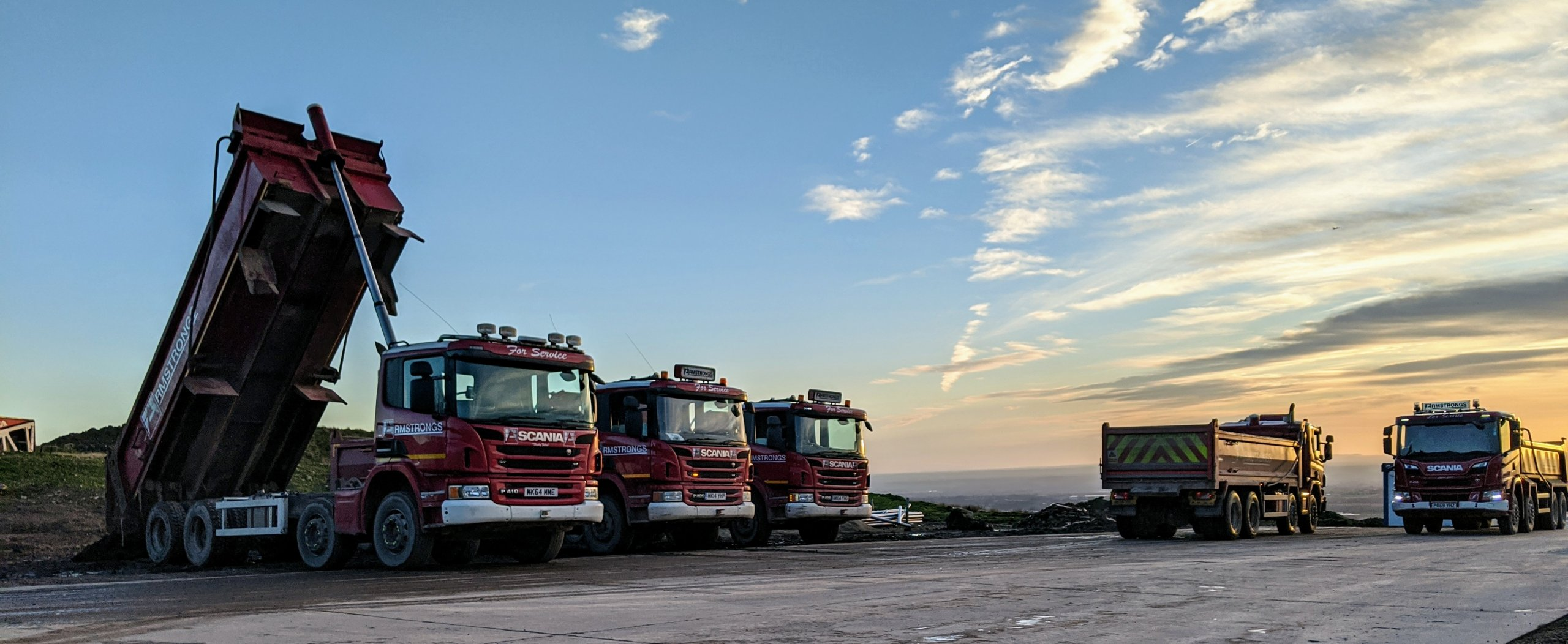 Armstrongs Scania Tipper Wagons at Pilkington Quarry